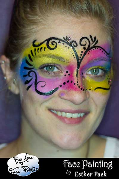 kids face painting full face eye mask san francisco bay area