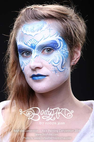 frozen ice snow queen face painting full face eye mask san francisco bay area