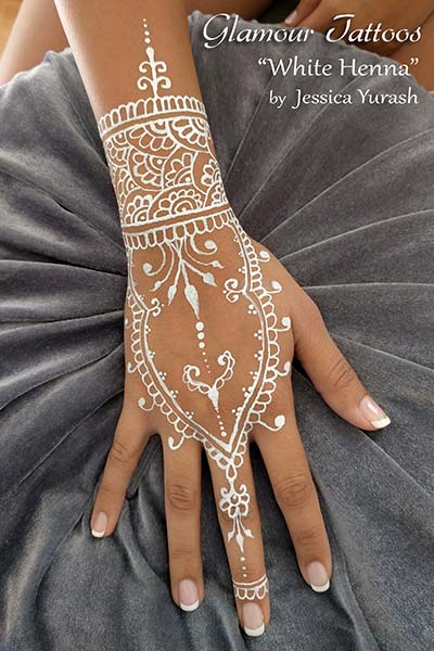 freehand glitter glamour tattoo white henna waterproof temporary body art san francisco bay area