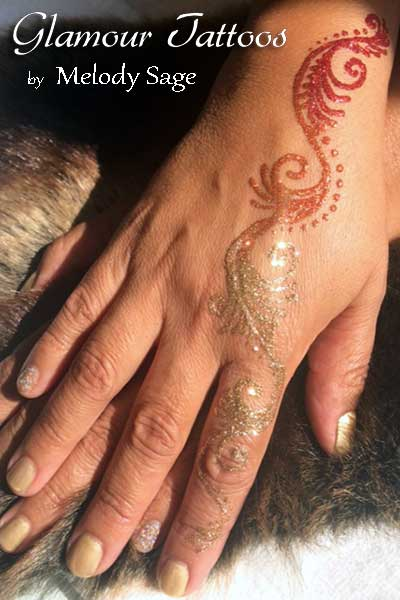 freehand glitter glamour tattoo waterproof temporary body art san francisco bay area