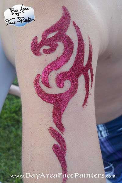 glitter tattoos freehand water-proof san francisco bay area face painters
