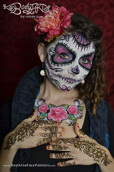 Halloween amp Day Of The Dead Sugar Skull Face Painting