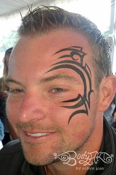074ad5727 ... tribal mike tyson adult face painting san francisco bay area face  painters ...