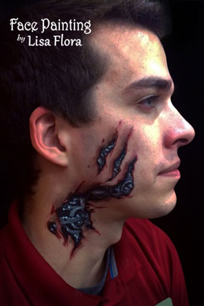 Adult face paint tribal